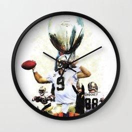 Super New Orleans Saints NFL Football Wall Clock