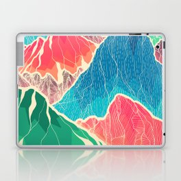 The glowing rocks of the mountains Laptop & iPad Skin