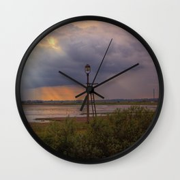 Sunset over the Norfolk Broads, UK Wall Clock