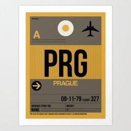 PRG Prague Luggage Tag 1 Art Print
