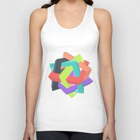 origami Tank Tops featuring Origami by Renata Esteves