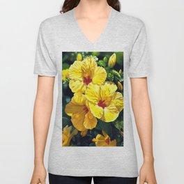 Yellow Hibiscus #18 Unisex V-Neck