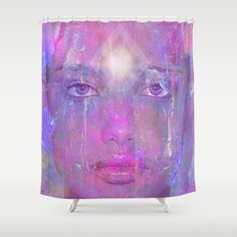 While waiting for equinox 36 Shower Curtain