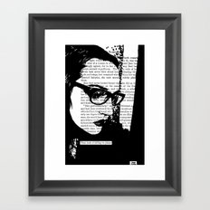That Look of Falling to Pieces Framed Art Print