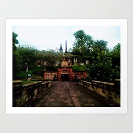 Cathedral in Scotland Art Print