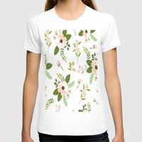 flower pattern T-shirts featuring Flower Pattern by Jenna Davis Designs