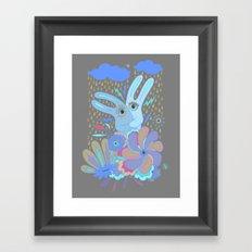 Hugging Rabbits Framed Art Print