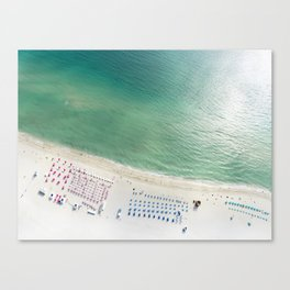 Helicopter View of Miami Beach Canvas Print