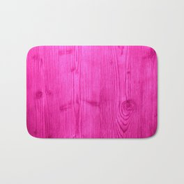 Pink Wood Grain Bath Mat