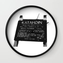 To Katahdin Wall Clock