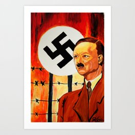 Hitler: The Face of Hate  Art Print