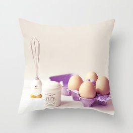 Egg moments Throw Pillow