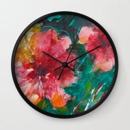 Pretty Peonies Wall Clock