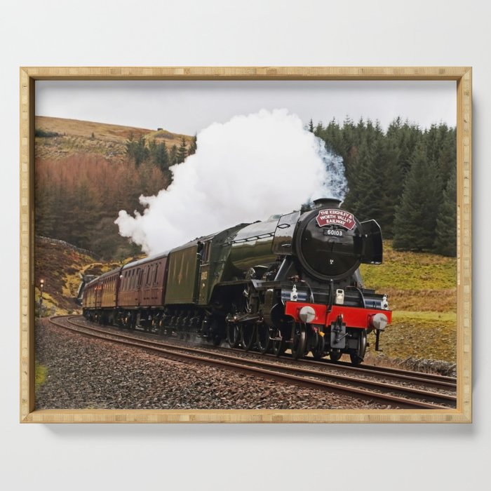 Flying Scotsman at Blea Moor Serving Tray