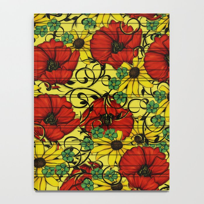 Poppy forget me not Notebook