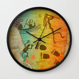 Cave Dwelling Native American Wall Clock
