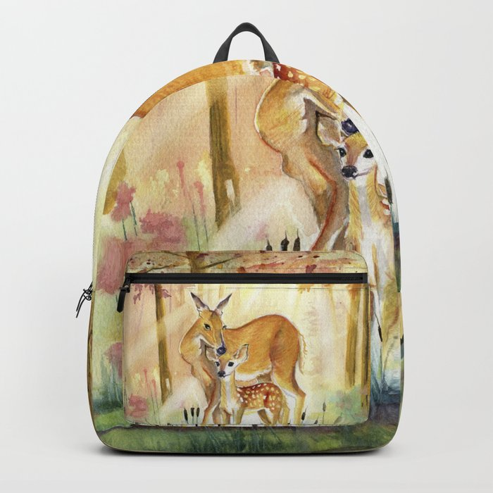 Mom and Little Deer Backpack