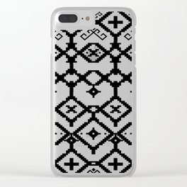 pattern of memories Clear iPhone Case