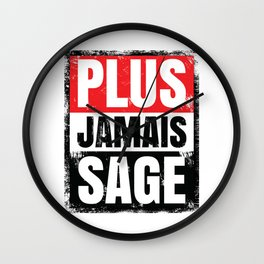 Plus Jamais Sage Wall Clock