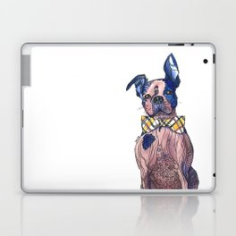 Bulldog in a bowtie, ink and watercolors Laptop & iPad Skin