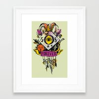 tatoo Framed Art Prints featuring Forever. Tatoo by mayina