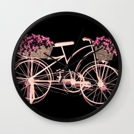 Pink bike Wall Clock