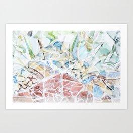 Mosaic of Barcelona XVI Art Print