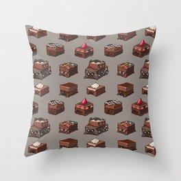 Pug Brownies Throw Pillow