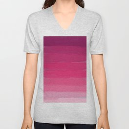 Lipstick: Shades of Pink Gradient Color Study Unisex V-Neck