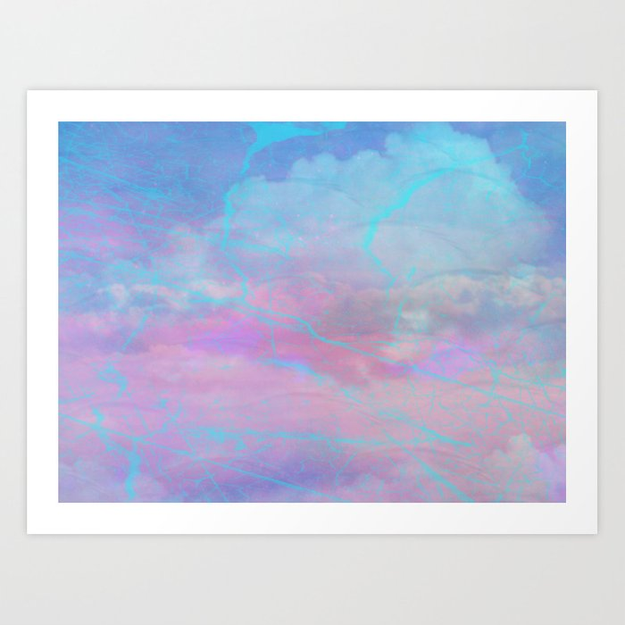 Marble Sky Abstract Art Print