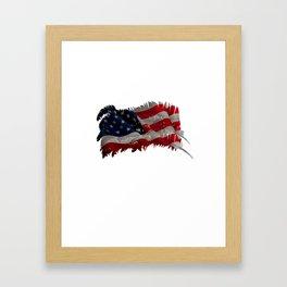 Native American Flag Shirt Cheroke Indian Gift Framed Art Print