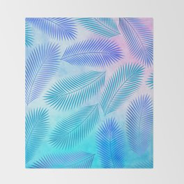 Feathers on Watercolor Background Throw Blanket