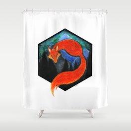 Kitsune Shower Curtain