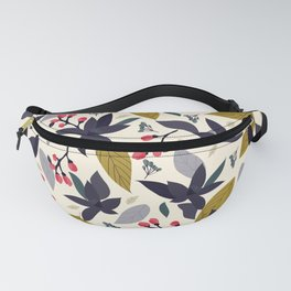 Spring blossom - dark flowers and pink buds Fanny Pack