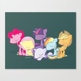 My little little ponies Canvas Print