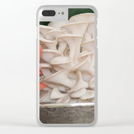 Pile of Mushrooms in a Bowl at the Farmers Market Clear iPhone Case