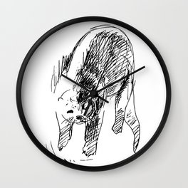 Otter in lines Wall Clock