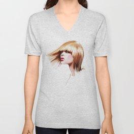 hairdress Unisex V-Neck