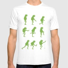 Ministry of Silly Muppet Walks White Mens Fitted Tee MEDIUM