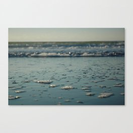Chasing the sea foam. Canvas Print