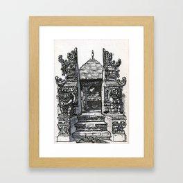 Bali : Market Temple Framed Art Print