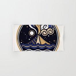 La Vita è Bella – Mediterranean Volcano in Tan Blue Palette Hand & Bath Towel