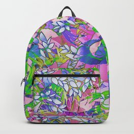 Floral Abstract Artwork G545 Backpack