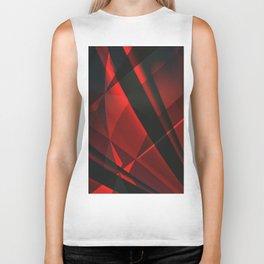 Red Abstractum Biker Tank
