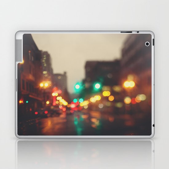Portland In The Rain Laptop & iPad Skin