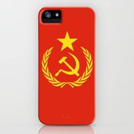 Russian Communist Flag Hammer & Sickle iPhone Case