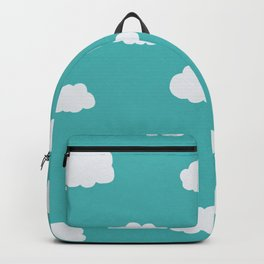 Cartoon Clouds Pattern Backpack