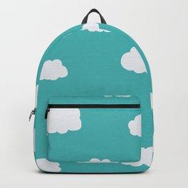 Cartoon Clouds Pattern Backpack