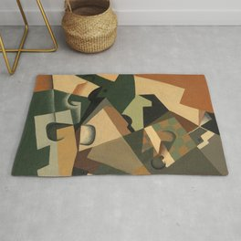 """Juan Gris """"Glass and Checkerboard"""" Rug"""