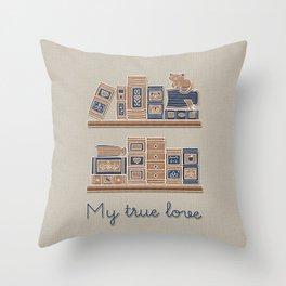 My True love_Coffee Feeling Throw Pillow